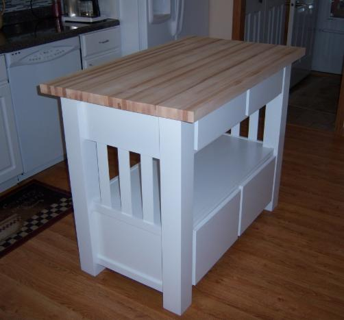 Knotty Oak Kitchen Island: Bernie's Cabinets