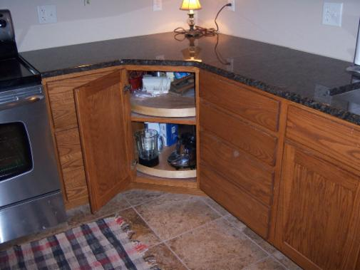 Angled Upper Corner Cabinet Easier To Reach Holds More Than Lazy Susan Shelves Are Adjule Door Can Swing Either Way